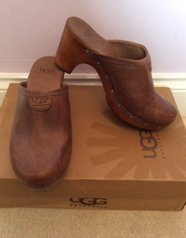 NEW IN BOX UGG LIGHT CHOCOLATE ABBIE CLOGS SIZE 3.5/36 - Whispers Dress Agency - Womens Mules & Flip Flops - 2