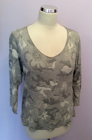 JAMES LAKELAND GREY V NECK JUMPER SIZE 20 - Whispers Dress Agency - Womens Knitwear - 1