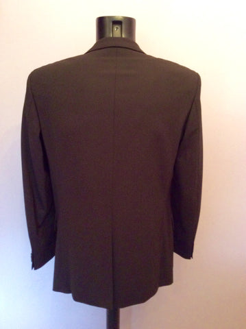Hugo Boss Dark Brown Wool Suit Jacket Size 38R - Whispers Dress Agency - Mens Suits & Tailoring - 4