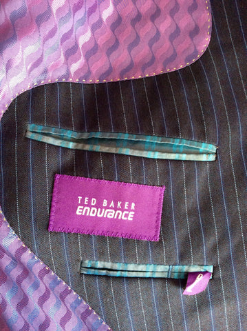 Ted Baker Endurance Navy Blue Pinstripe Wool Suit Size 42/34W - Whispers Dress Agency - Mens Suits & Tailoring - 5
