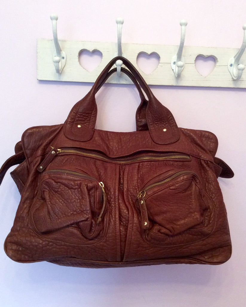 Bulga De Beer Brown Leather Tote Bag - Whispers Dress Agency - Handbags - 1 9d1af6f79fa55
