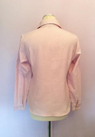 Polo By Ralph Lauren Pink & White Stripe Cotton Shirt Size XL - Whispers Dress Agency - Sold - 2