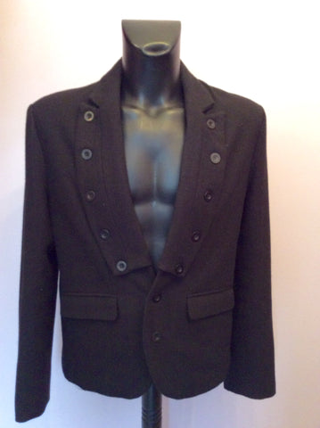 DESIGNER PEOPLES MARKET BLACK BUTTON TRIM JACKET SIZE L - Whispers Dress Agency - Mens Suits & Tailoring - 3