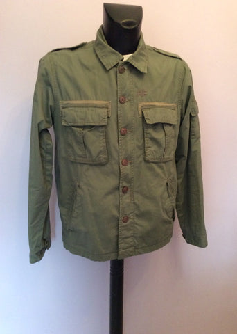 Abercrombie & Fitch Green Cotton Jacket Size M - Whispers Dress Agency - Mens Coats & Jackets - 1
