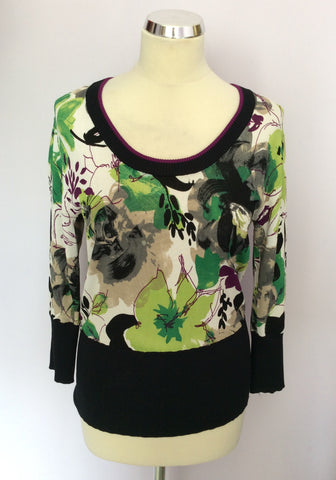 BETTY BARCLAY FLORAL PRINT FINE KNIT TOP SIZE S - Whispers Dress Agency - Womens Tops - 1