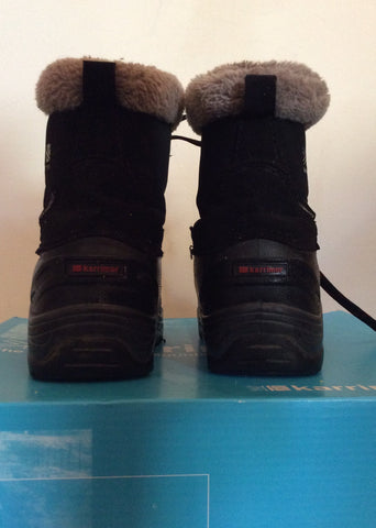 Karrimor Junior Black / Red Suede Snow / Walking Boots Size 12 - Whispers Dress Agency - Boys Footwear - 4