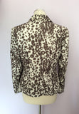 BETTY BARCLAY IVORY & BROWN PRINT JACKET SIZE 12 - Whispers Dress Agency - Womens Coats & Jackets - 3