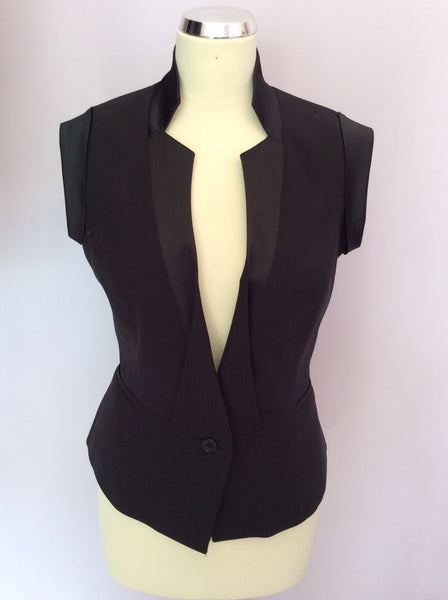 Reiss 1971 Black Satin Trim Waistcoat Size 8 - Whispers Dress Agency - Sold - 1