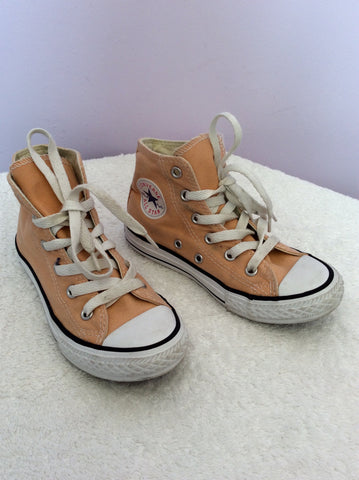 Converse All Star Youth Peach High Top Trainers Size 12 - Whispers Dress Agency - Girls Footwear - 1