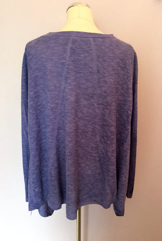 Obsession Purple Oversize Fine Knit Jumper One Size - Whispers Dress Agency - Womens Knitwear - 4