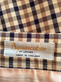 Aquascutum Beige, Brown & Blue Check Pencil Skirt Size 10 - Whispers Dress Agency - Sold - 3