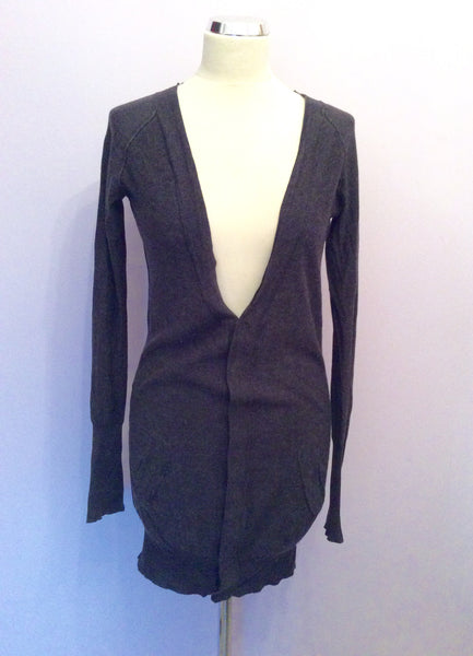 All Saints Dark Grey Julianna Long Cardigan Size 10 - Whispers Dress Agency - Sold - 1