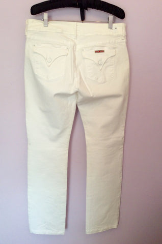 HUDSON WHITE 'BETH' BABY BOOT LEG JEANS SIZE 32W/33L - Whispers Dress Agency - Womens Jeans - 2