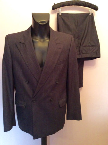 JAEGER CHARCOAL GREY CHECK WOOL SUIT SIZE 40R/36W - Whispers Dress Agency - Mens Suits & Tailoring - 1