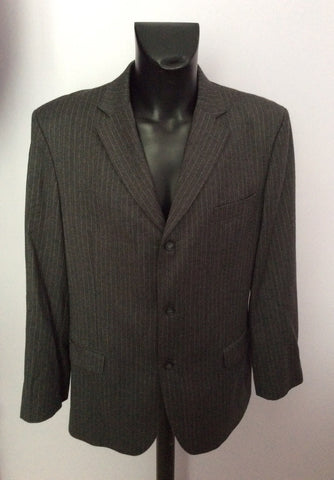 Smart FCUK Formal Grey Pinstripe 100% Wool Suit Size 44R/38W - Whispers Dress Agency - Mens Suits & Tailoring - 2