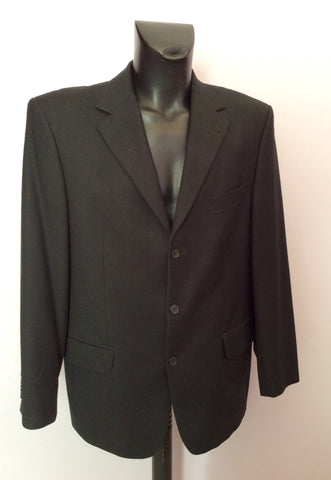 DESCH BLACK WOOL & CASHMERE SUIT JACKET SIZE 42R - Whispers Dress Agency - Mens Suits & Tailoring - 1