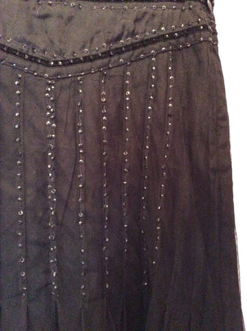 BRAND NEW DAY BY BIRGER ET MIKKELSEN BLACK SEQUIN TRIM SKIRT SIZE 34 UK 6 - Whispers Dress Agency - Womens Skirts - 3