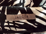 Jaeger Black & White Floral Print Crop Trousers Size 16 - Whispers Dress Agency - Sold - 3
