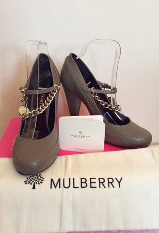 Mulberry Khaki / Olive Carter Character Leather Heels Size 7/40 - Whispers Dress Agency - Womens Heels - 1