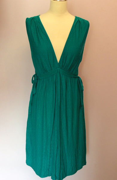 French Connection Green Tie Side Dress Size 14 - Whispers Dress Agency - Sold - 1