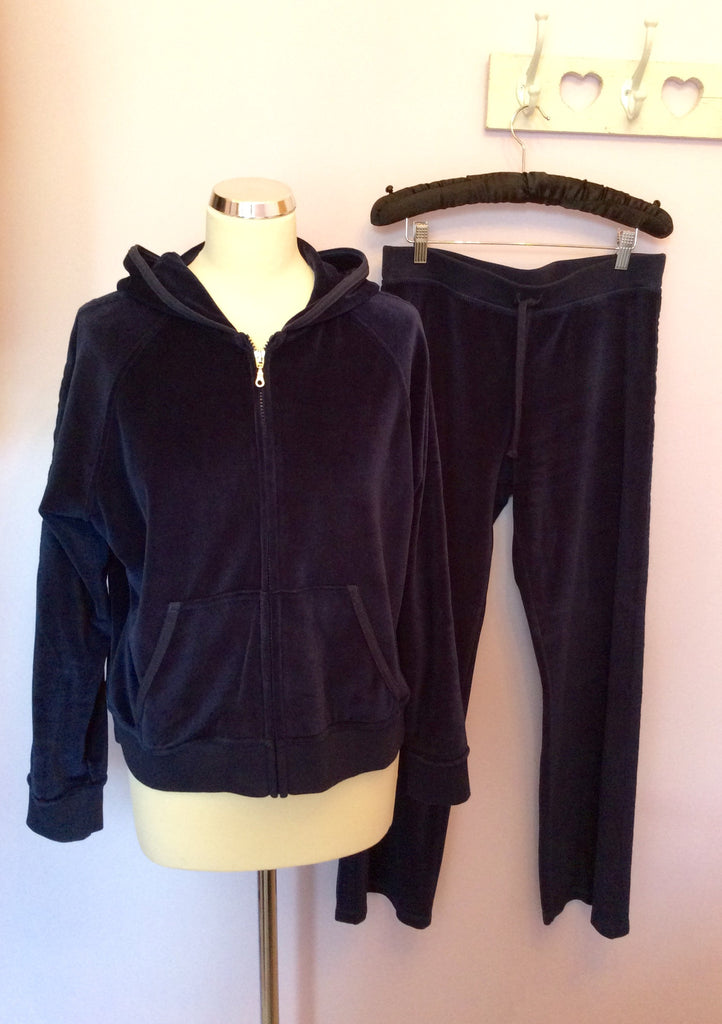 000eca91936760 Brand New Marks & Spencer Navy Blue Velour Tracksuit Size 18/14 Short -  Whispers