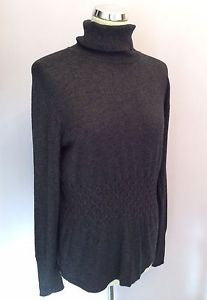 Betty Barclay Dark Grey Poloneck Jumper Size 16 - Whispers Dress Agency - Sold - 1