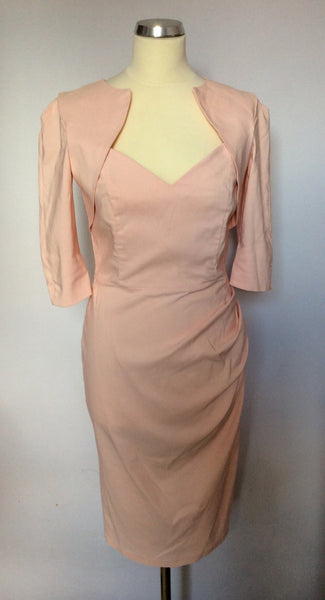 Diva Pale Pink Stretch Wiggle Dress Size M/L - Whispers Dress Agency - Womens Dresses - 1