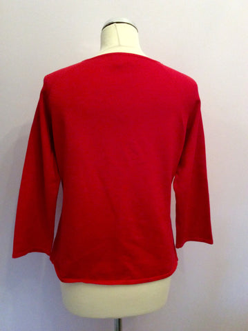 Sydney Easton Red Silk Blend Square Neck Jumper Size L - Whispers Dress Agency - Womens Knitwear - 2