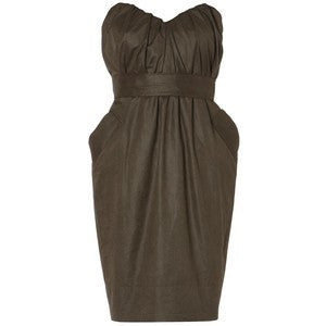 All Saints Brown Jessamine Strapless Corset Dress Size 14 - Whispers Dress Agency - Sold - 1