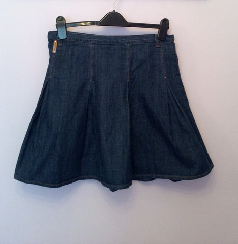 Dolce & Gabbana Blue Denim Flippy Skirt Size 42 UK 12/14 - Whispers Dress Agency - Womens Skirts - 2