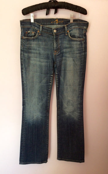 7 For All Mankind Blue Bootcut Jeans Size 32W, 32L - Whispers Dress Agency - Womens Jeans - 1