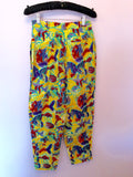 Vintage Jaeger Yellow Print Crop Top & Trousers Approx Size 6/8 - Whispers Dress Agency - Sold - 5