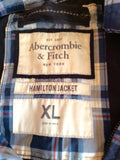 Abercrombie & Fitch Blue Check Hamilton Jacket Size XL - Whispers Dress Agency - Mens Coats & Jackets - 6