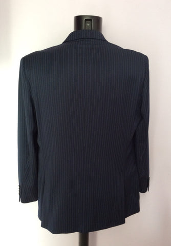 Ted Baker Endurance Navy Blue Pinstripe Wool Suit Size 42/34W - Whispers Dress Agency - Mens Suits & Tailoring - 4