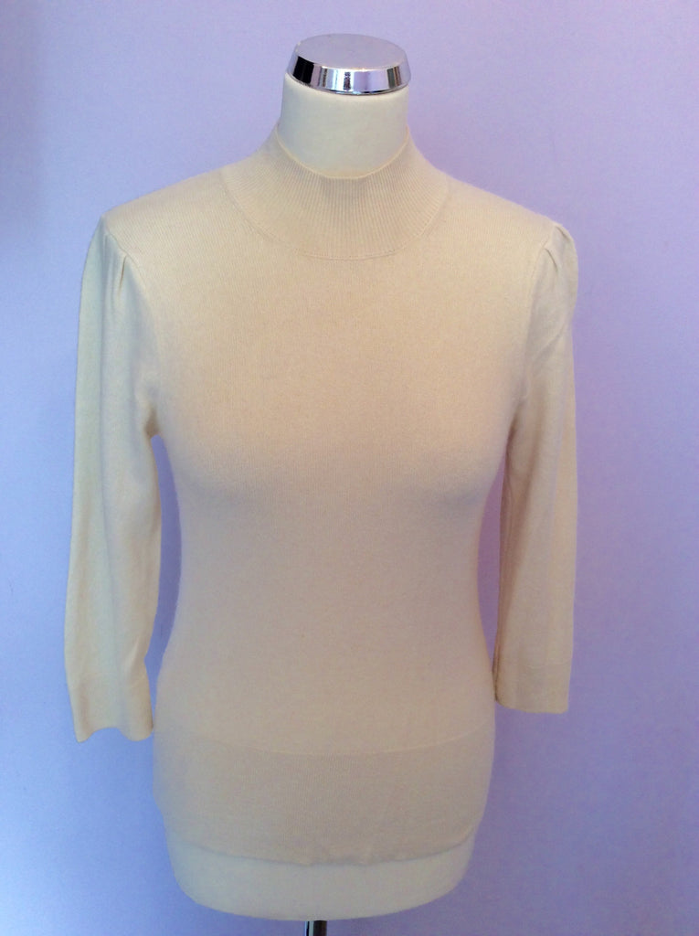 Austin Reed Signature Cream Cashmere Jumper Size S Whispers Dress Agency