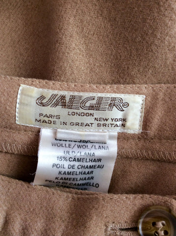 "Vintage Jaeger Camel Wool & Camel Hair Peddle Pushers Size 26"" - Whispers Dress Agency - Womens Vintage - 3"