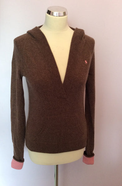 Abercrombie & Fitch Brown Cashmere Hooded Jumper Size L - Whispers Dress Agency - Sold - 1