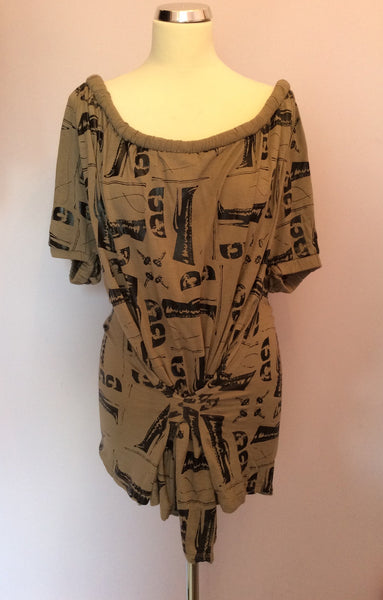 Bolongero Trevor Brown & Black Print Top Size S - Whispers Dress Agency - Sold - 1