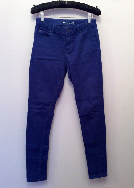 Whistles Blue Skinny Leg Jeans Size 24 - Whispers Dress Agency - Sold - 1
