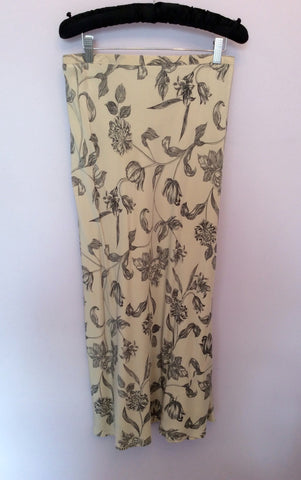 Alexon Cream & Black Floral Print Silk Blouse & Skirt Size 12 - Whispers Dress Agency - Womens Suits & Tailoring - 4