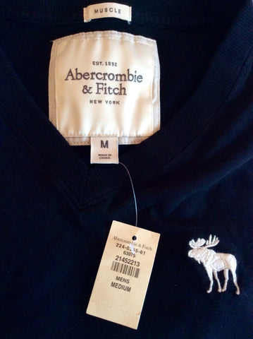 Brand New Abercrombie & Fitch Black Muscle T Shirt Size M - Whispers Dress Agency - Mens Casual Shirts & Tops - 2