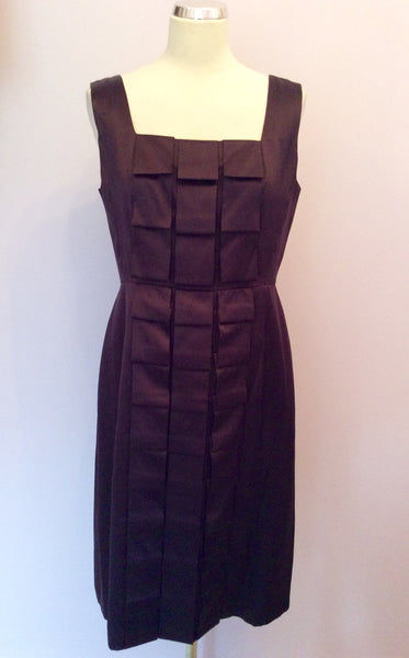 Brand New Phase Eight Aubergine Silk Dress Size 14 - Whispers Dress Agency - Sold - 1