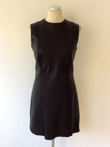 BRAND NEW CELINE BLACK LEATHER DRESS SIZE 42 UK 12 - Whispers Dress Agency - Womens Dresses - 2