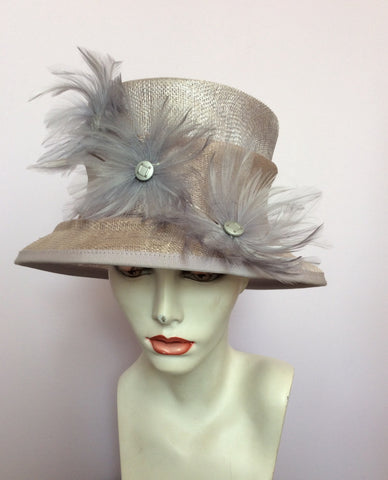 Alicia Boom Pale Lilac / Mauve Feather Trim Formal Hat - Whispers Dress Agency - Womens Formal Hats & Fascinators - 1