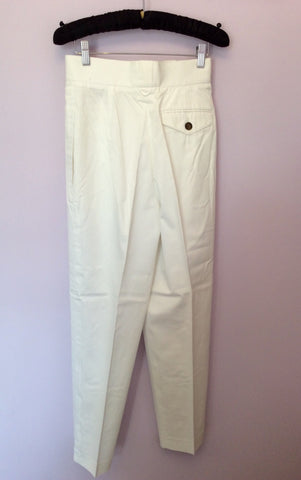 "Vintage Jaeger High Waist Cotton Trousers Size 25"" Approx UK 6 - Whispers Dress Agency - Womens Vintage - 2"