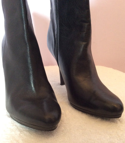 Ralph Lauren Black Leather Ankle Boots Size7/41 - Whispers Dress Agency - Womens Boots - 4
