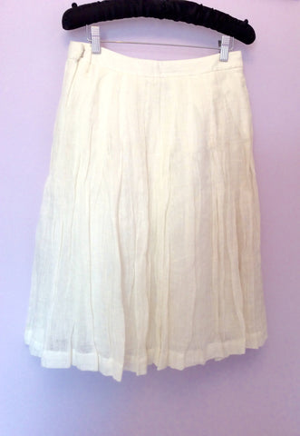 Brand New Jesire Winter White Linen Skirt Size 6 - Whispers Dress Agency - Womens Skirts - 2