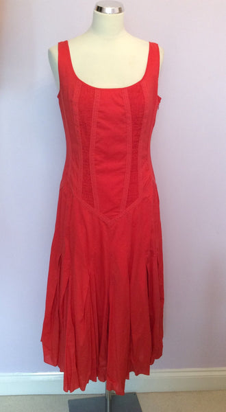 Brand New Linea Orange Cotton Dress Size 14 - Whispers Dress Agency - Womens Dresses - 1