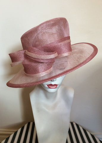 Debut Pale & Dusky Pink Bow Trim Formal Hat - Whispers Dress Agency - Womens Formal Hats & Fascinators - 1