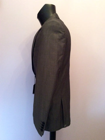 Brand New Jaeger Grey Wool & Mohair Contemporary Suit Jacket Size 38R - Whispers Dress Agency - Sold - 2